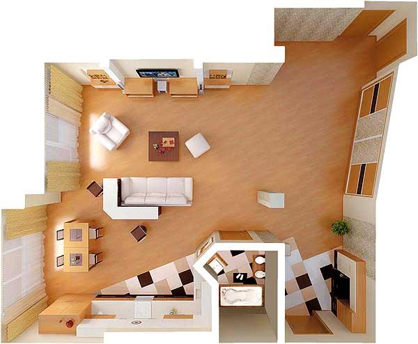Обустройство однокомнатной квартиры своими руками фото